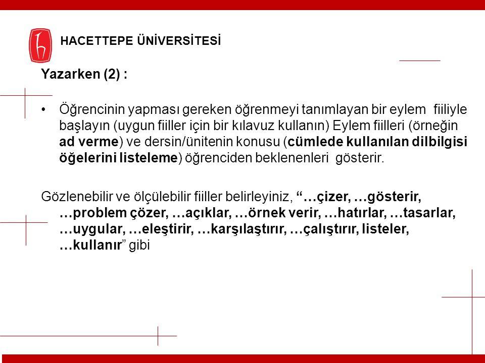 Yazarken (2) :