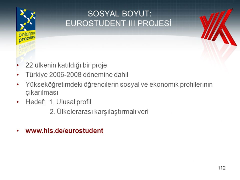 SOSYAL BOYUT: EUROSTUDENT III PROJESİ
