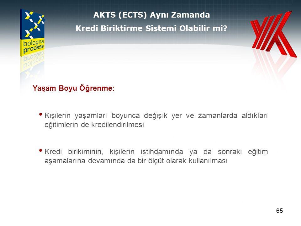 AKTS (ECTS) Aynı Zamanda Kredi Biriktirme Sistemi Olabilir mi