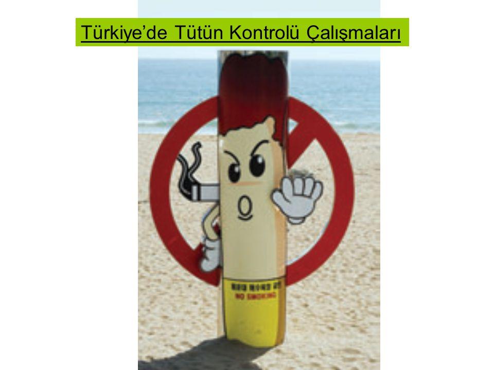 Türkiye'de Tütün Kontrolü Çalışmaları