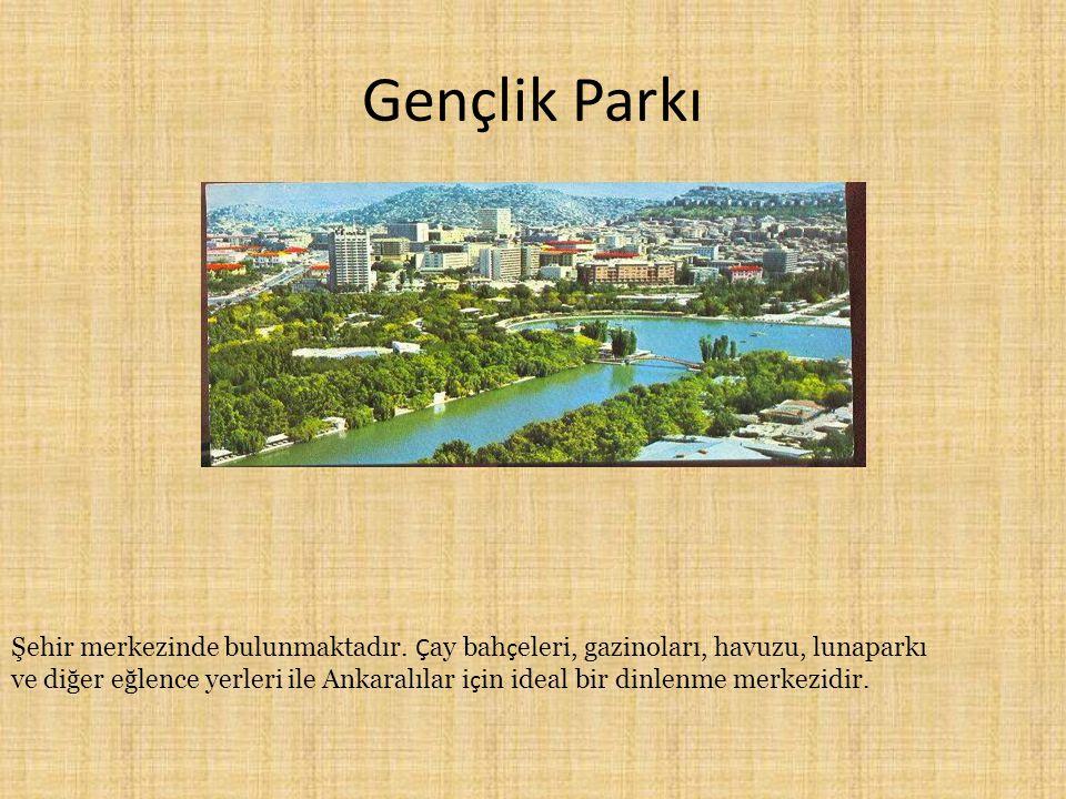 Gençlik Parkı Şehir merkezinde bulunmaktadır. Çay bahçeleri, gazinoları, havuzu, lunaparkı.