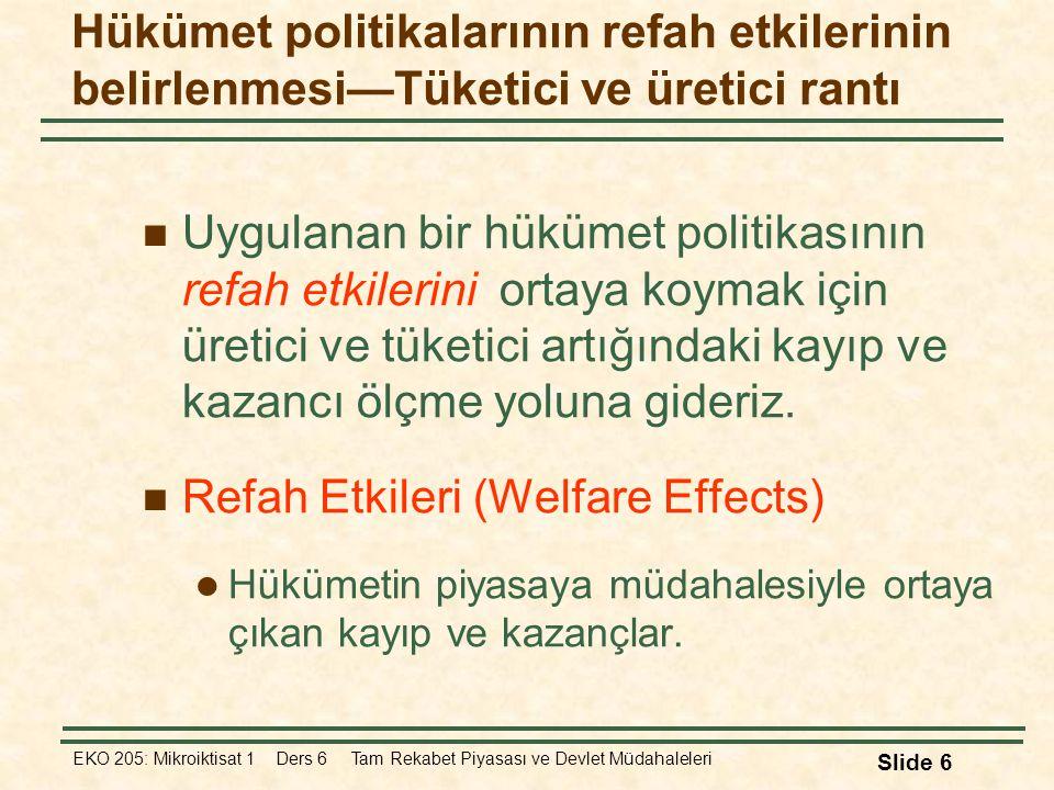 Refah Etkileri (Welfare Effects)