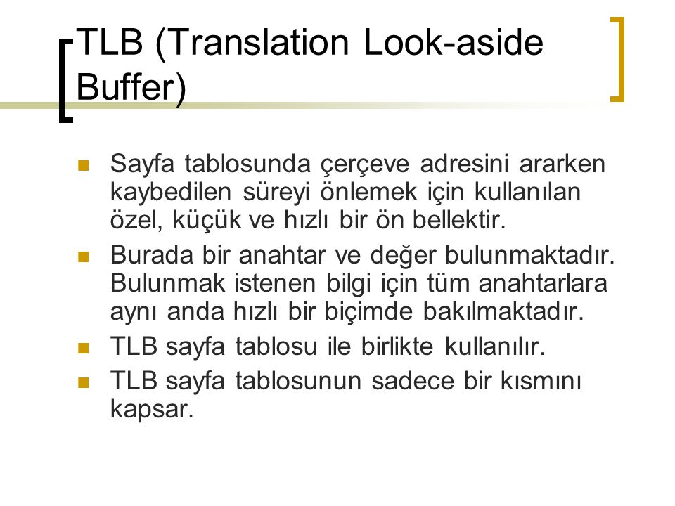 TLB (Translation Look-aside Buffer)