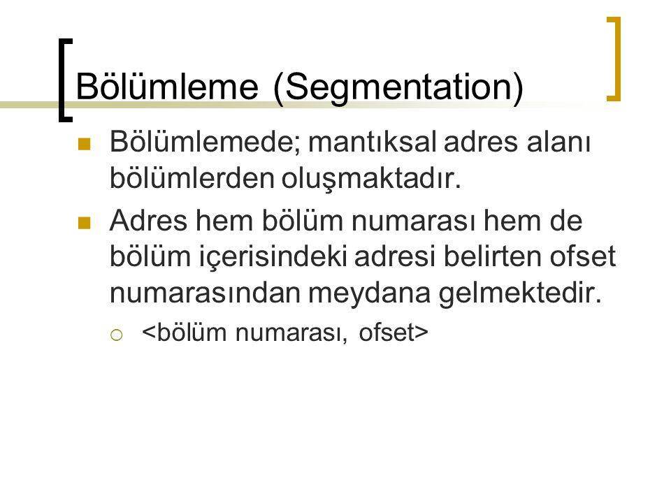 Bölümleme (Segmentation)
