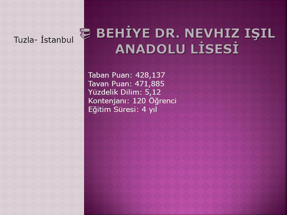  Behİye Dr. Nevhiz IşIl anadolu lİsesİ
