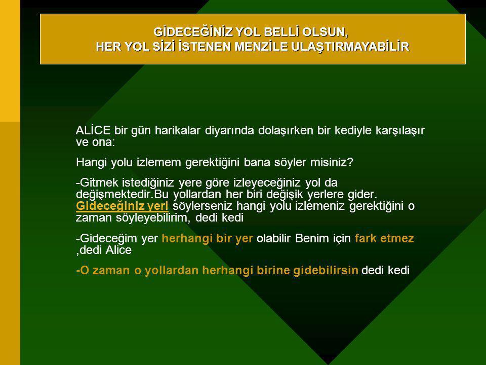GİDECEĞİNİZ YOL BELLİ OLSUN,