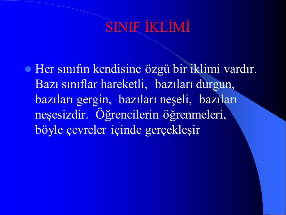 SINIF İKLİMİ