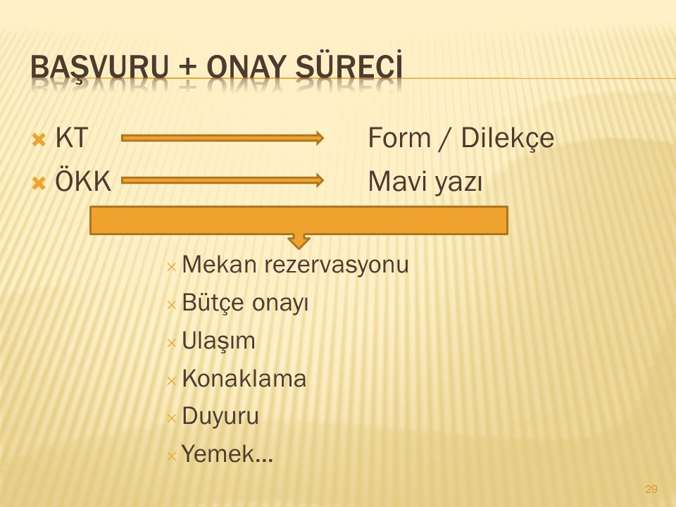 BAŞVURU + Onay sürecİ KT Form / Dilekçe ÖKK Mavi yazı