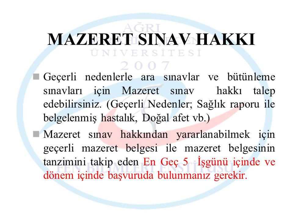 MAZERET SINAV HAKKI