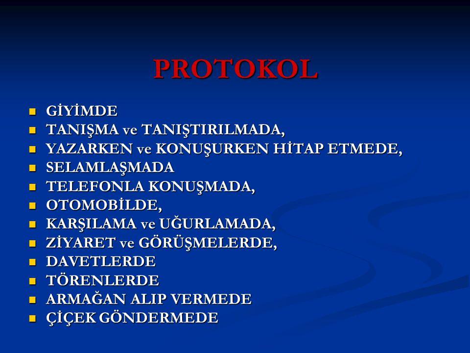 PROTOKOL GİYİMDE TANIŞMA ve TANIŞTIRILMADA,