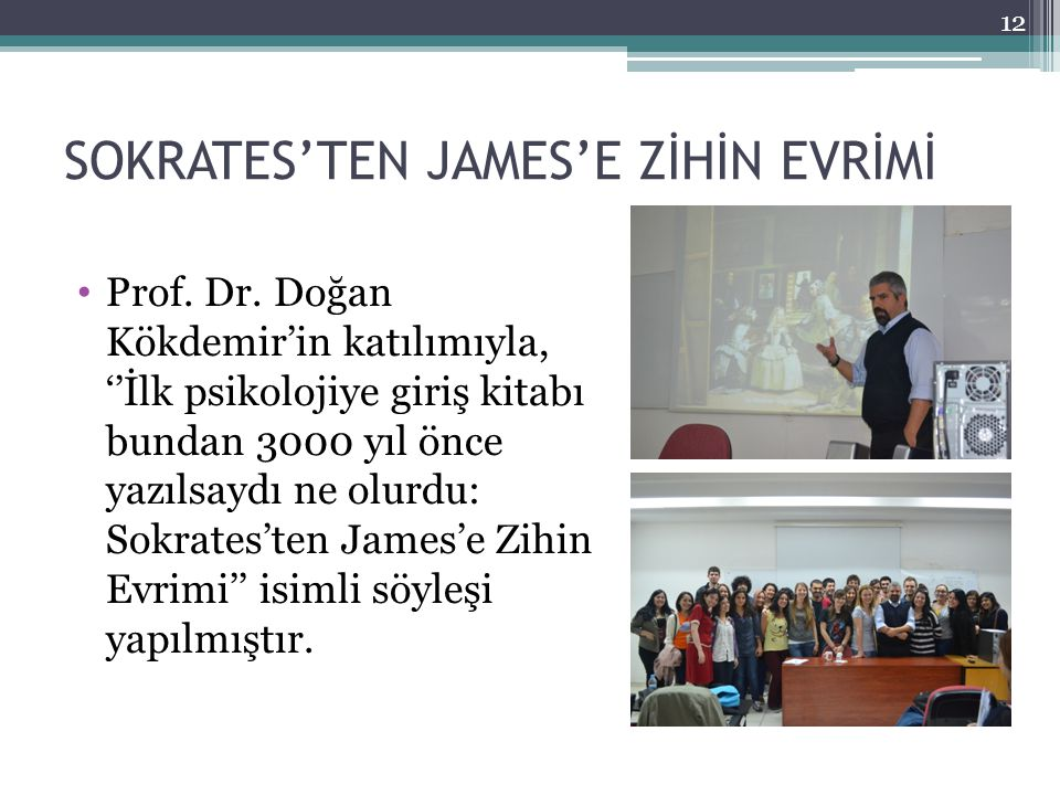 SOKRATES'TEN JAMES'E ZİHİN EVRİMİ