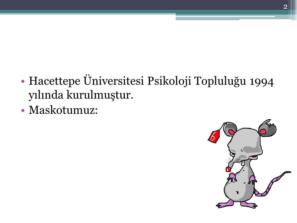 Hacettepe Üniversitesi Psikoloji Topluluğu 1994 yılında kurulmuştur.