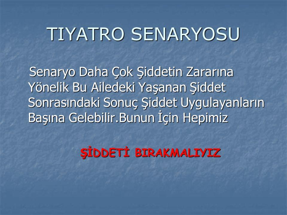 TIYATRO SENARYOSU