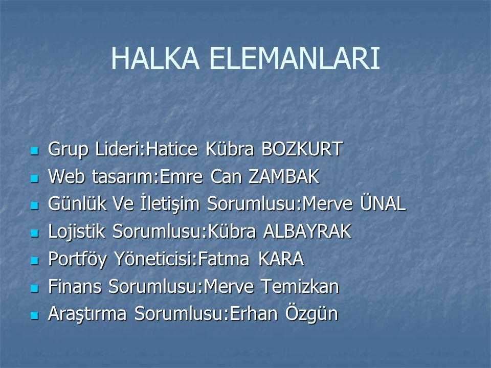 HALKA ELEMANLARI Grup Lideri:Hatice Kübra BOZKURT