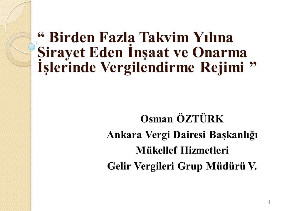 Ankara Vergi Dairesi Başkanlığı Gelir Vergileri Grup Müdürü V.