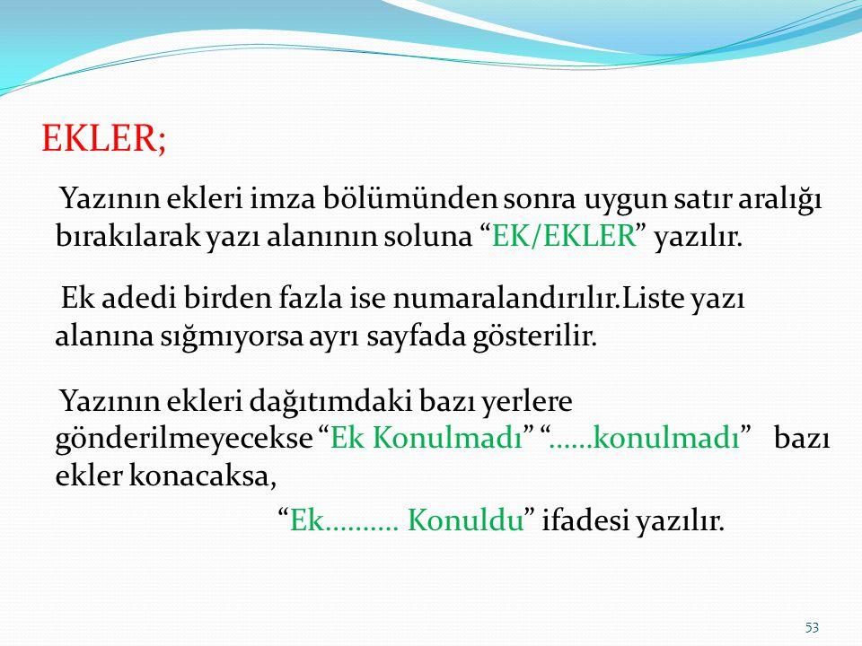 EKLER;