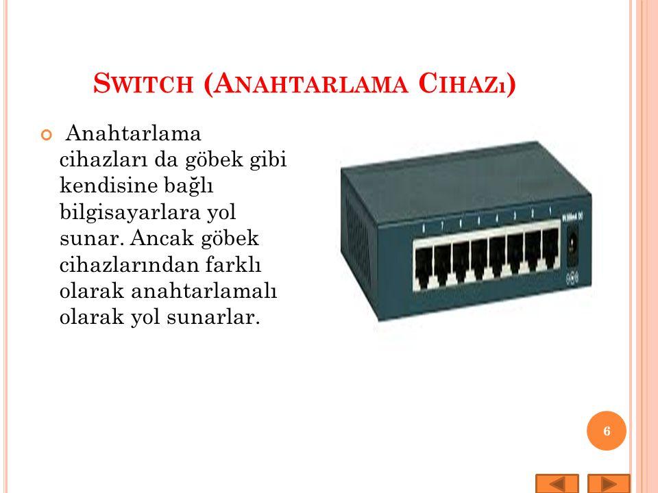 Switch (Anahtarlama Cihazı)