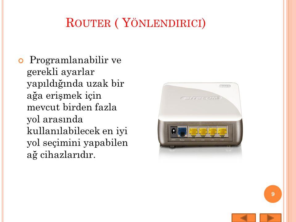 Router ( Yönlendirici)