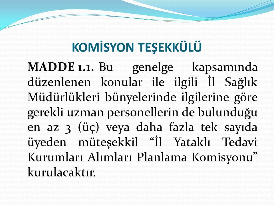 KOMİSYON TEŞEKKÜLÜ