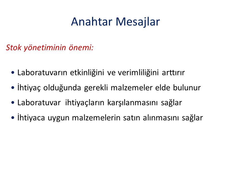Anahtar Mesajlar Stok yönetiminin önemi: