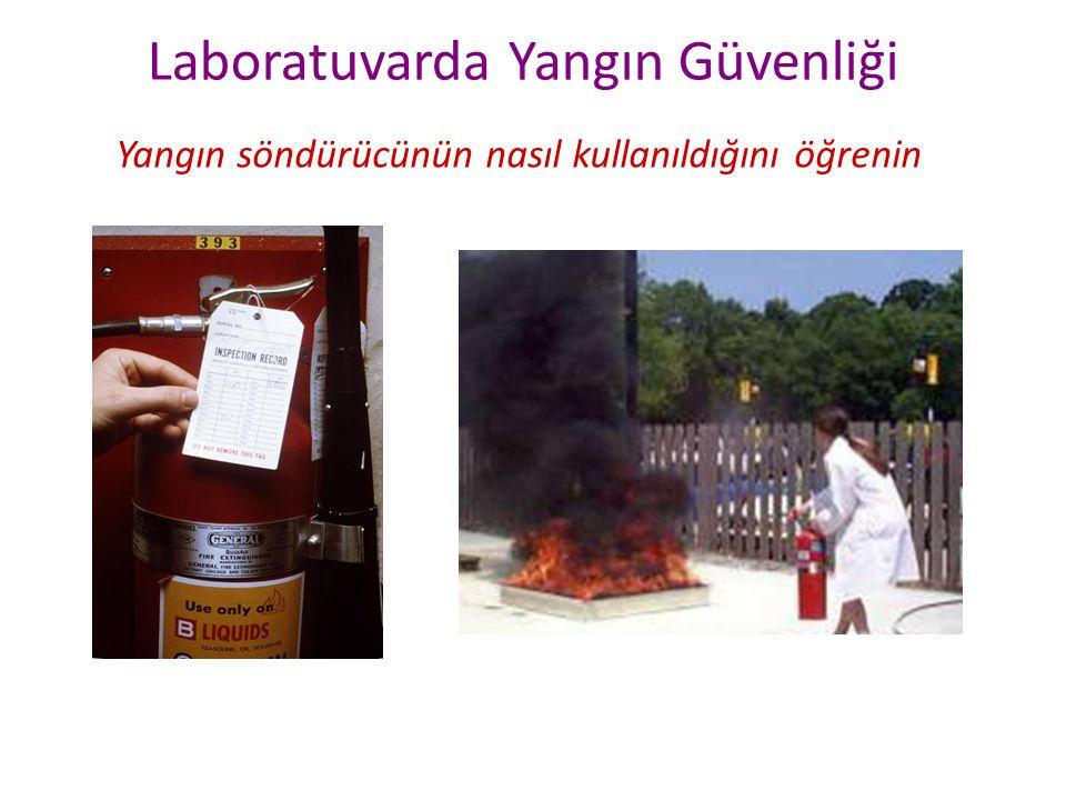 Laboratuvarda Yangın Güvenliği