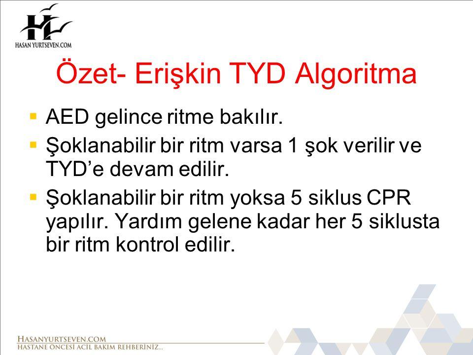 Özet- Erişkin TYD Algoritma