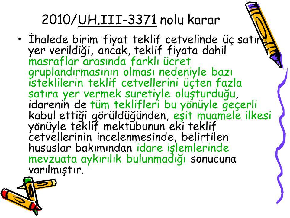 2010/UH.III-3371 nolu karar