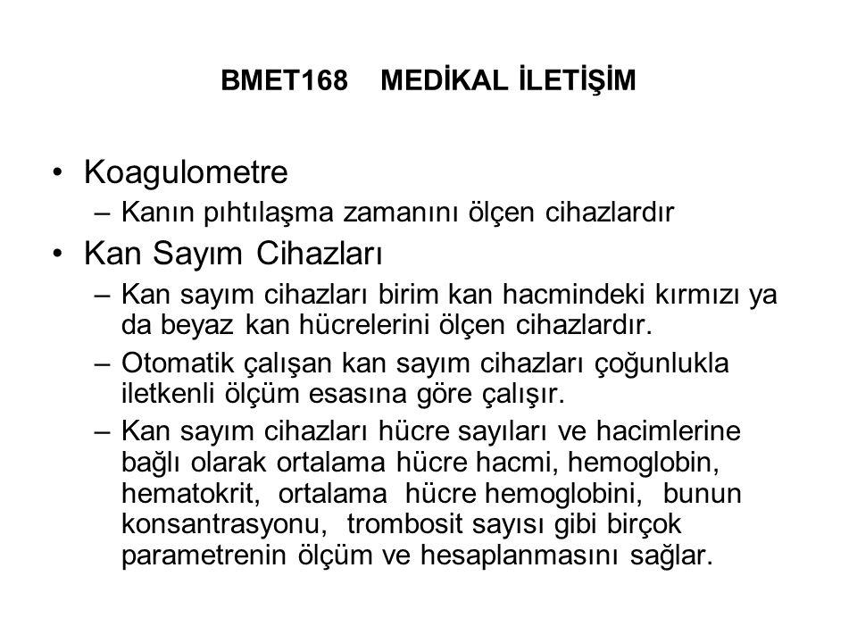 Koagulometre Kan Sayım Cihazları BMET168 MEDİKAL İLETİŞİM