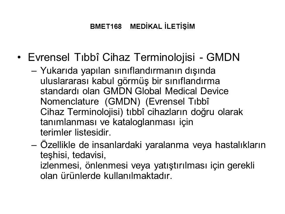 Evrensel Tıbbî Cihaz Terminolojisi - GMDN