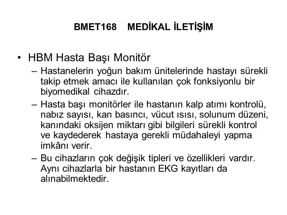 HBM Hasta Başı Monitör BMET168 MEDİKAL İLETİŞİM