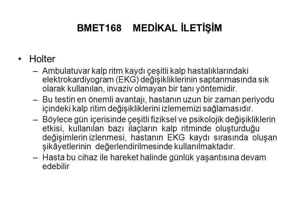 BMET168 MEDİKAL İLETİŞİM Holter