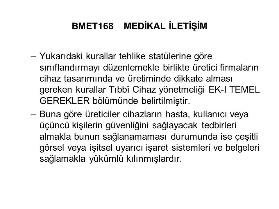 BMET168 MEDİKAL İLETİŞİM