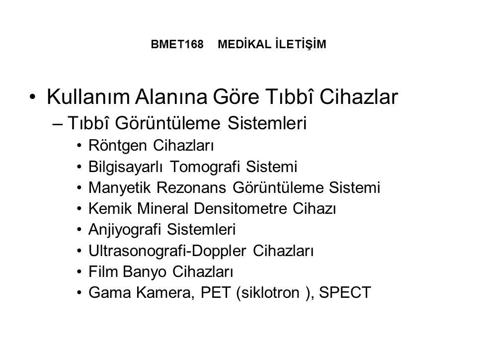Kullanım Alanına Göre Tıbbî Cihazlar