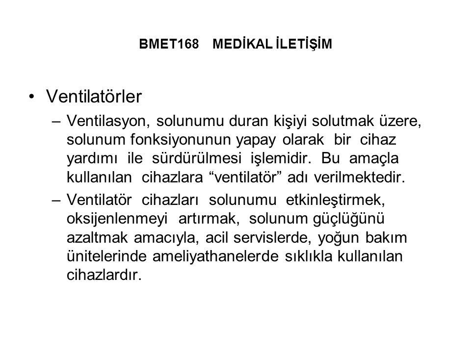 BMET168 MEDİKAL İLETİŞİM Ventilatörler.