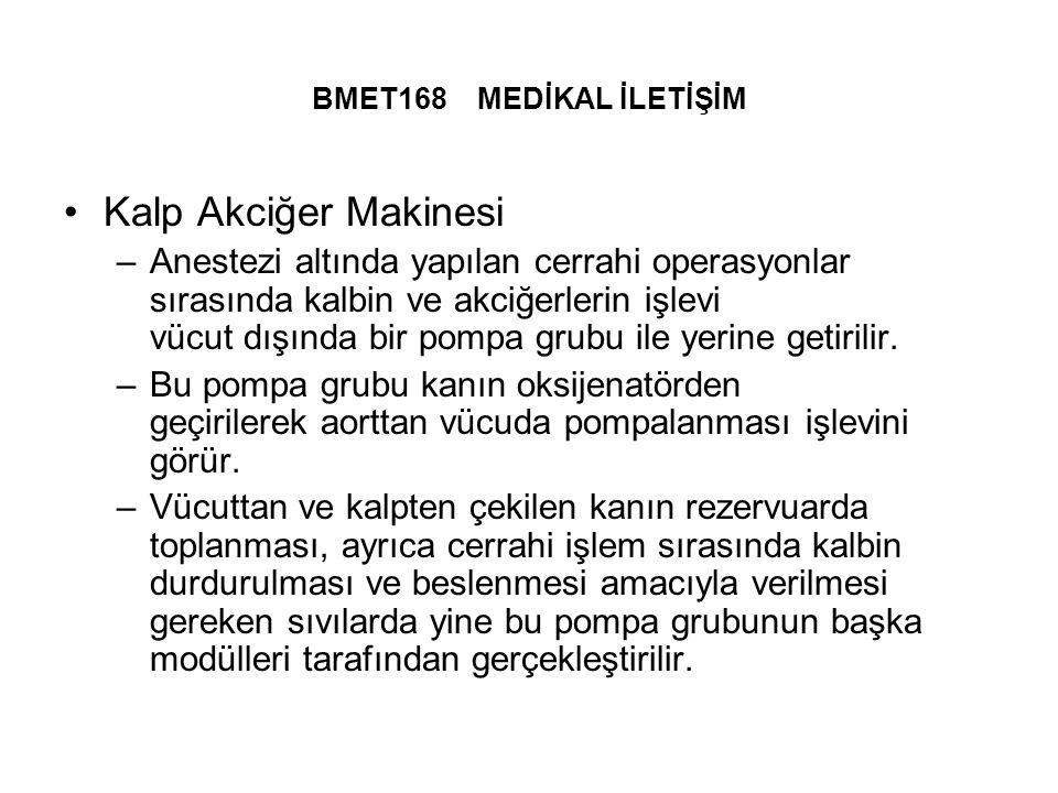 BMET168 MEDİKAL İLETİŞİM Kalp Akciğer Makinesi.