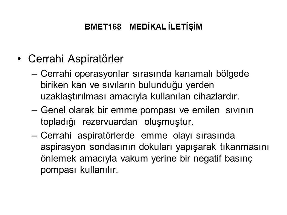 BMET168 MEDİKAL İLETİŞİM Cerrahi Aspiratörler.