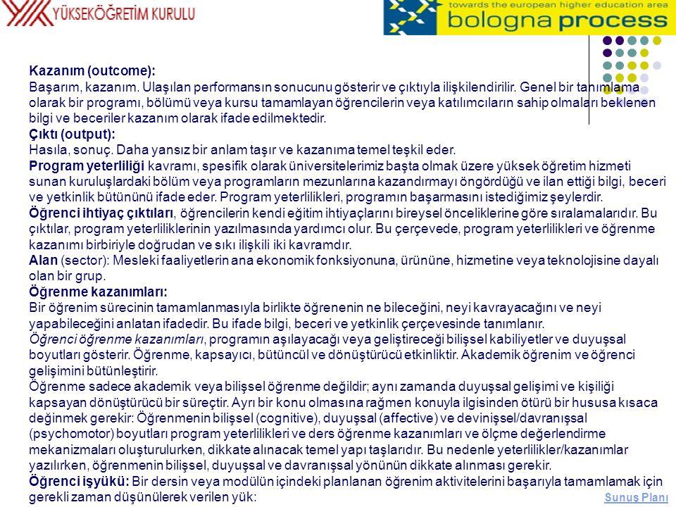 Kazanım (outcome):