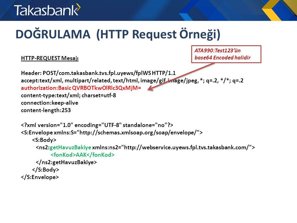 DOĞRULAMA (HTTP Request Örneği)