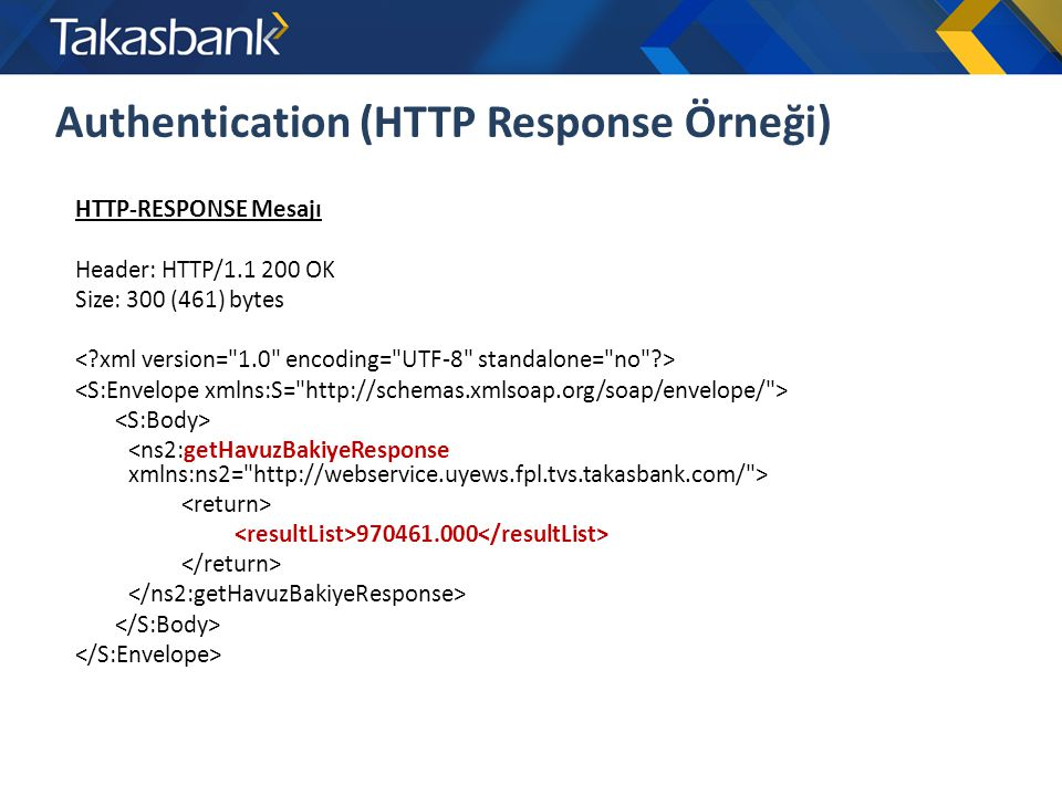 Authentication (HTTP Response Örneği)