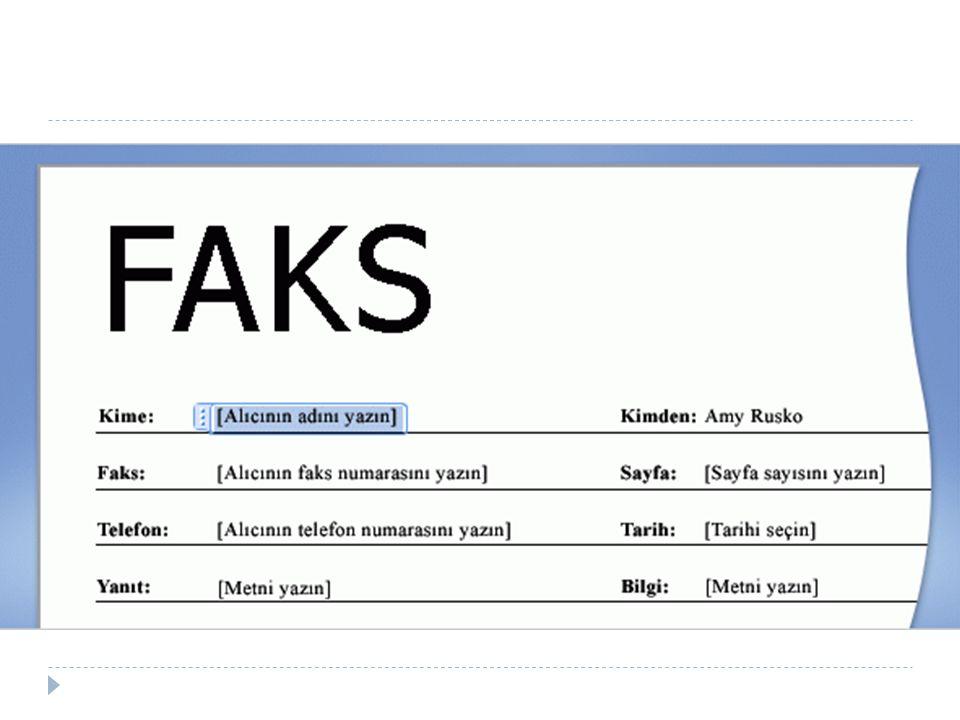 Diyelim ki işinizde sık sık başka bir şirkete faks göndermeniz gerekiyor.