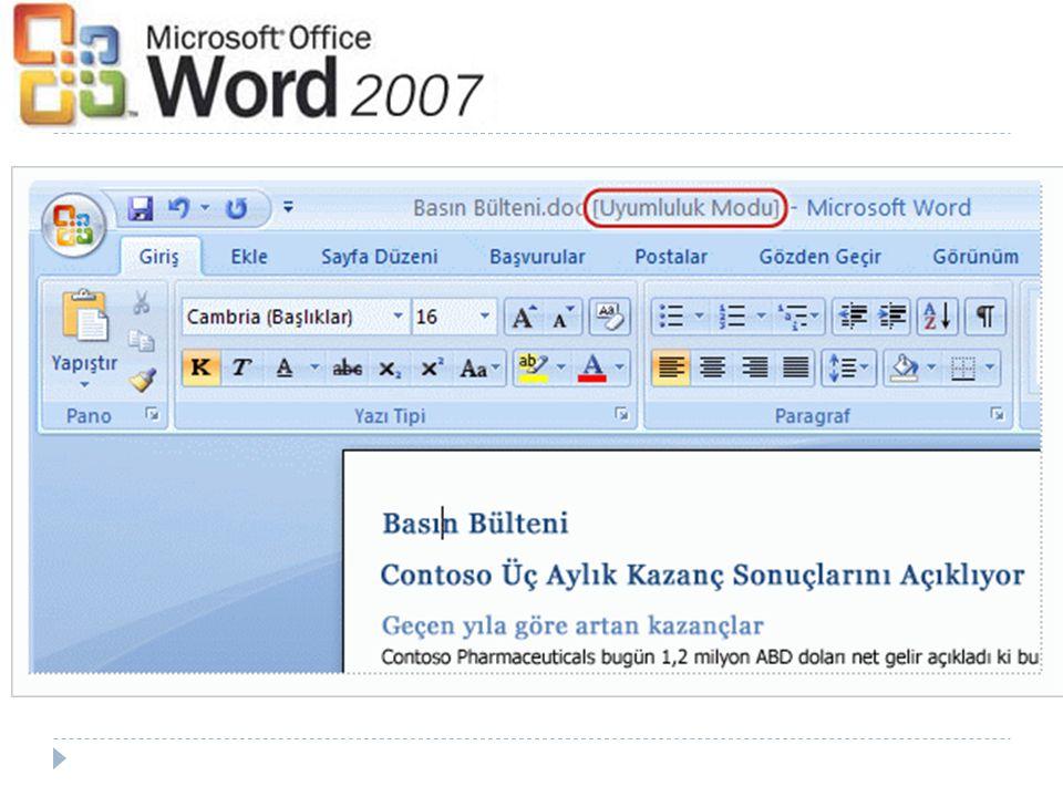 Word ün bir belgeyi uyumluluk modunda açıp açmadığını nereden bileceksiniz
