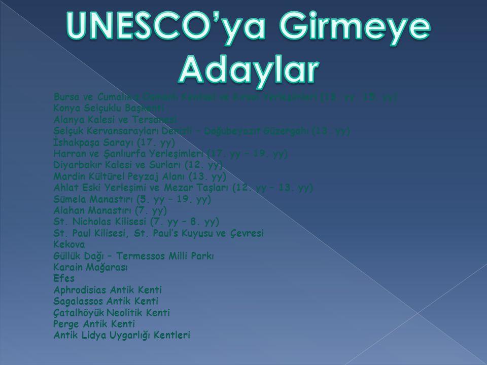 UNESCO'ya Girmeye Adaylar