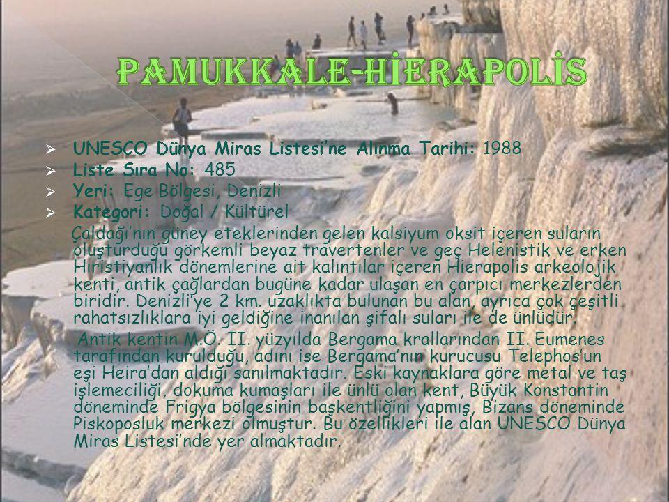 Pamukkale-Hİerapolİs