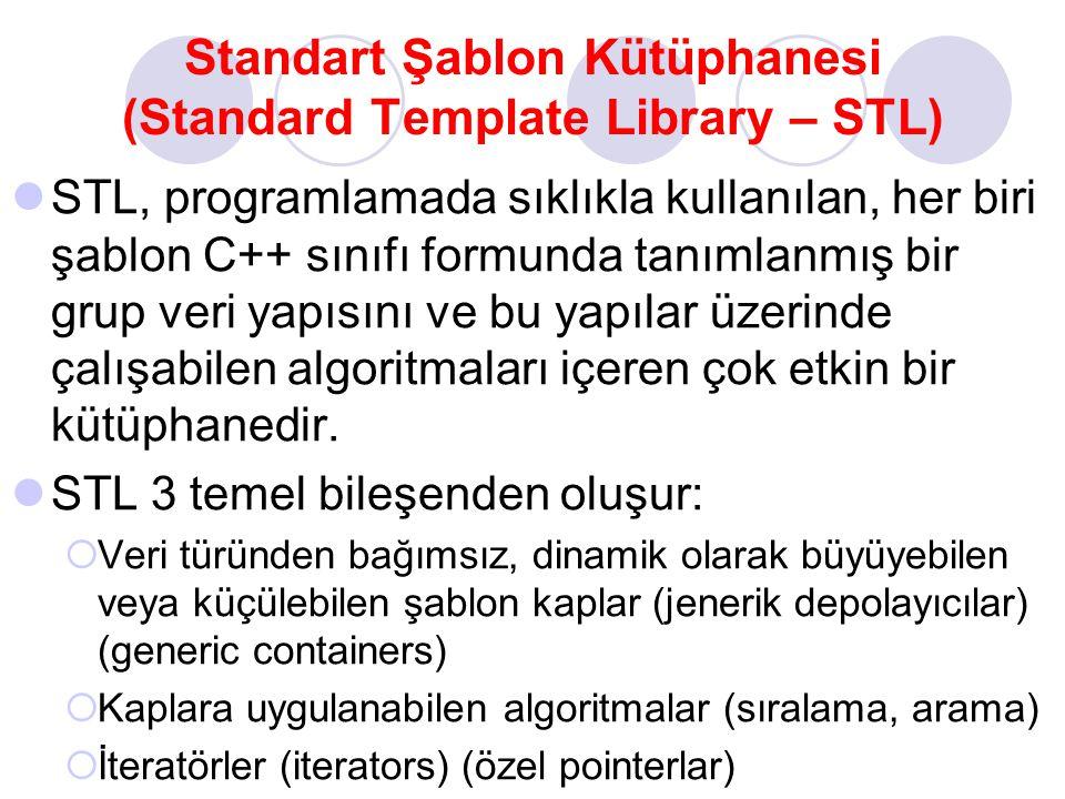 Standart Şablon Kütüphanesi (Standard Template Library – STL)