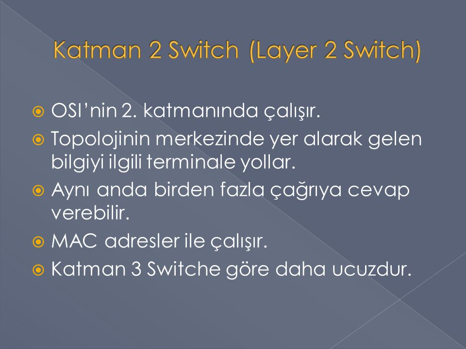 Katman 2 Switch (Layer 2 Switch)