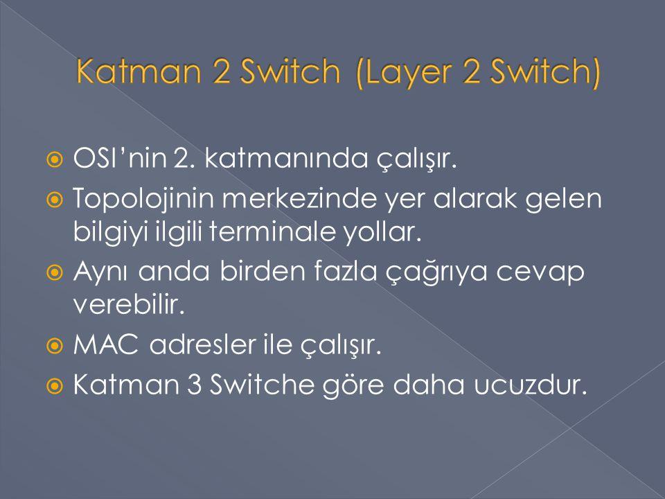 Katman 2 Switch (Layer 2 Switch)