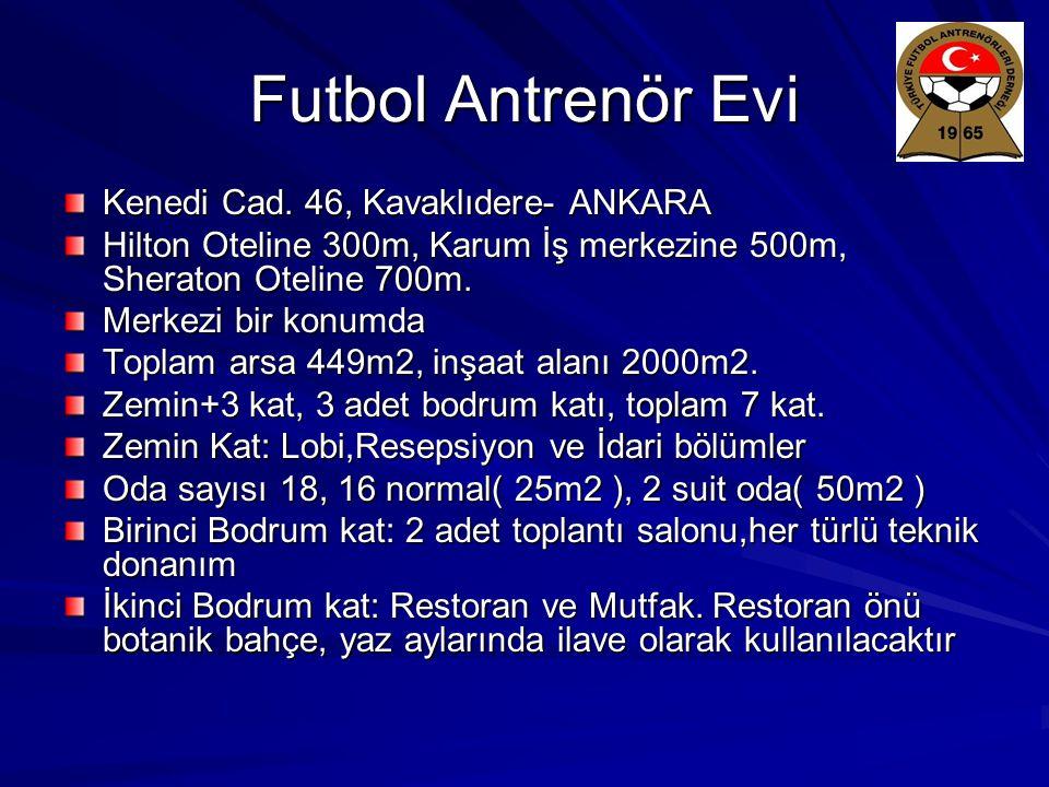 Futbol Antrenör Evi Kenedi Cad. 46, Kavaklıdere- ANKARA