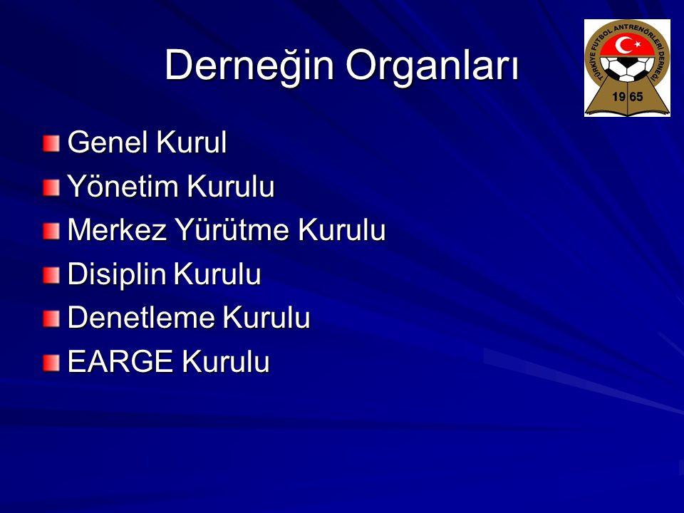 Derneğin Organları Genel Kurul Yönetim Kurulu Merkez Yürütme Kurulu