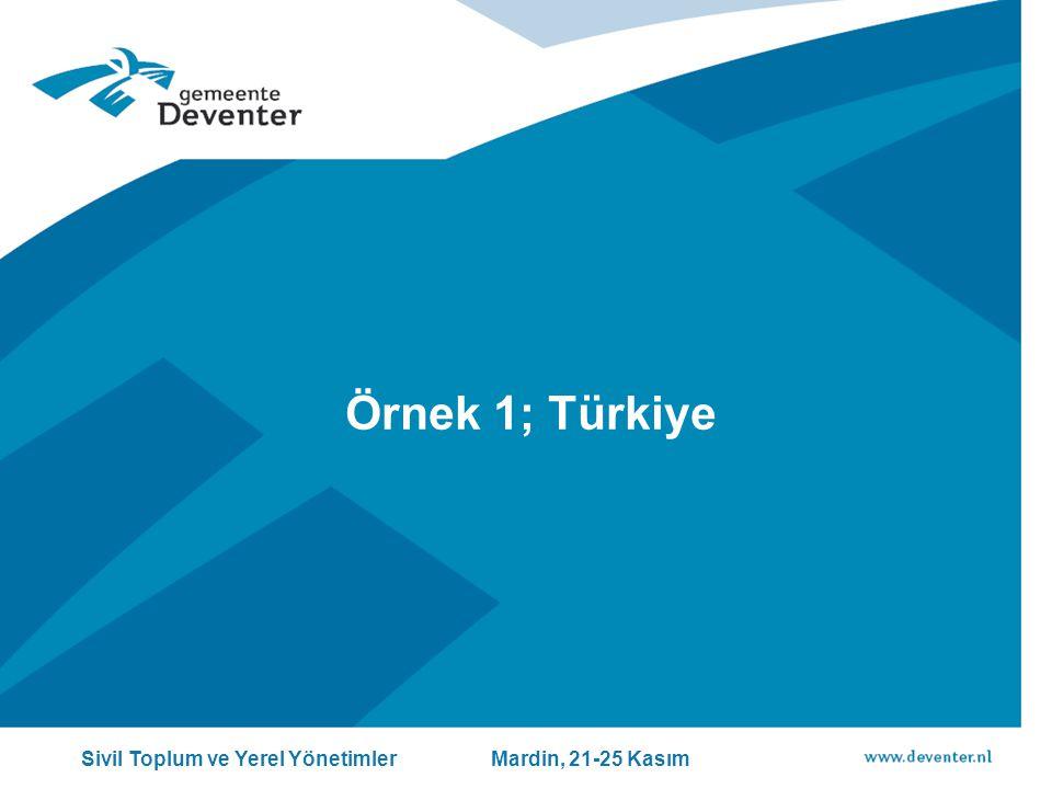 Örnek 1; Türkiye Sivil Toplum ve Yerel Yönetimler Mardin, 21-25 Kasım