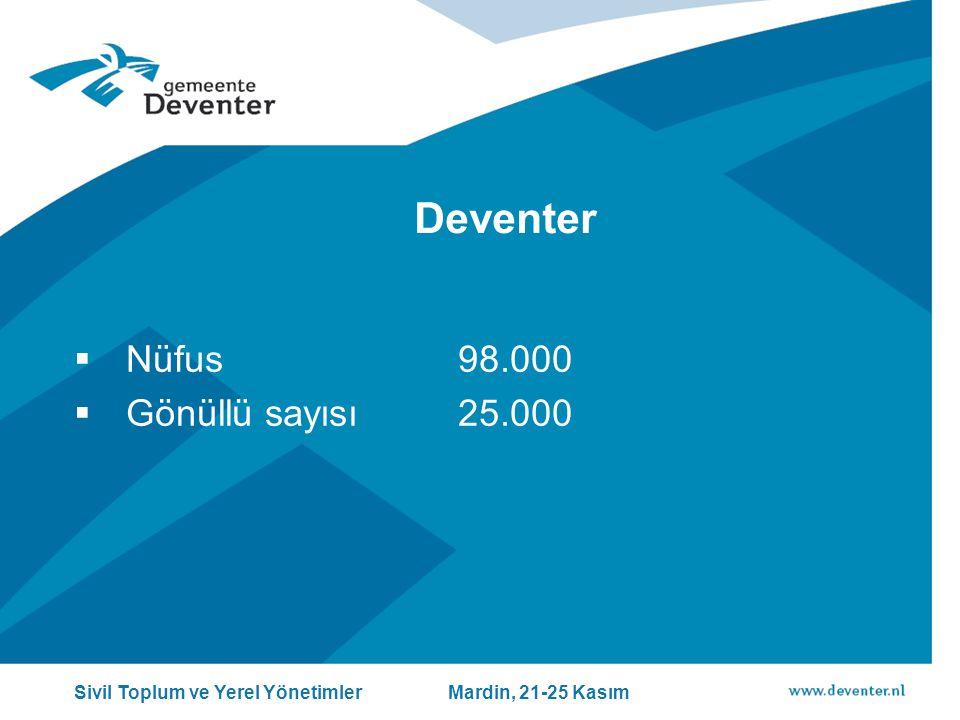 Deventer Nüfus 98.000 Gönüllü sayısı 25.000